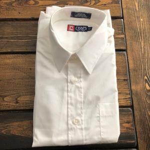 CHAPS Boys White Long Sleeve Dress Shirt Size 12